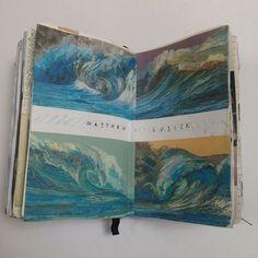 """Matthew Cusick inspiration page"" Cait Mceniff Art Inspo, Kunst Inspo, Kunstjournal Inspiration, Sketchbook Inspiration, Art Sketches, Art Drawings, Artist Sketchbook, Art Journal Pages, Book Art"