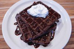 homemade chocolate waffles