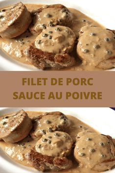 Pork Recipes, Keto Recipes, Chicken Recipes, Filet Mignon Sauce, Easy Healthy Recipes, Easy Meals, Sauce Au Poivre, Vegan Comfort Food, Meal Planner