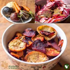Kuchařka ze Svatojánu: ZELENINOVÉ CHIPSY Appetizer Recipes, Appetizers, Pot Roast, Potato Salad, Diet Recipes, Food And Drink, Low Carb, Beef, Snacks