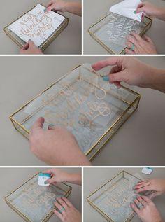 This DIY glass wedding card box is gorgeous! - - This DIY glass wedding card box is gorgeous! This DIY glass wedding card box is gorgeous! Wedding Favors Cheap, Diy Wedding Decorations, Wedding Invitations, Diy Wedding Glasses, Diy Glasses, Glass Wedding Card Box, Wedding Boxes, Diy Wedding Cards, Diy Wedding Signs