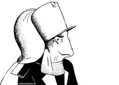 """Kippbild: """"Alter oder junger Mann?"""" (optische Illusion) von Martin Missfeldt als Pendant zu """"Alte oder junge Frau"""""""
