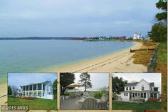 Unique & chic waterfront ... home on Broomes Island ! Beautiful sandy beach, expansive views &stylish porches for entertaining..Outdoor Gazebo & hot tub plus level deck area for relaxing. Huge MBR suite  & 2 bdrms upper level w/dbl staircase, hardwood floors & more! 3 car garage w/ workshop/storage & det 2 car Garage. Separate Apt Bldg w/3 units. Use of 2 slips. Future pier possible. 3 parcels 8.31 ac