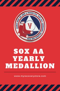 MyRecoveryStore 43 Year Red and Blue Patriotic Yearly AA Medallion Large Sized w//Coin Capsule Red and Blue Alcoholics Anonymous AA Chip 1-50 Years