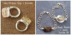 Beads Baubles & Jewels: make easy wire-wrapped jewelry with @katiehacker on episode #2101.