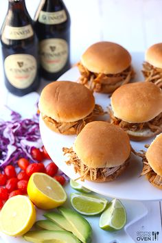 Guinness Pulled Pork sliders.