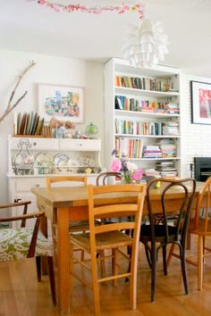 Mismatched chairs fit well in my house!