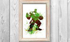 Hulk Poster Marvel Poster Green Hulk Watercolor Print Superheroes Art Print Wall Illustrations Art Print 8x10 Wall Decor  Home Decor No181