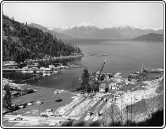 Horseshoe Bay Terminal under construction. 1960. These old photos are so interesting.