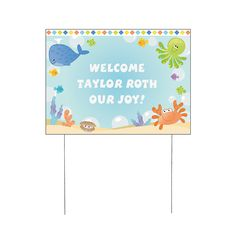 Personalized Under The Sea Boy Yard Sign - OrientalTrading.com  Use as welcome sign