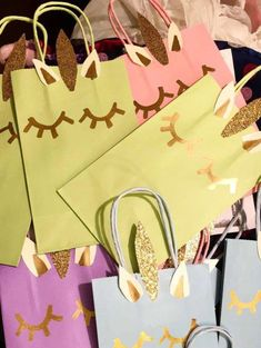 Bolsitas unicornio para cumpleaños