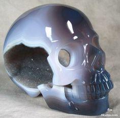 Agate Crystal Skull