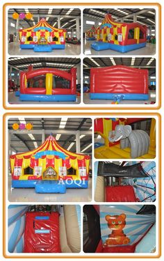 Circus world inflatable bouncer is suitable to place in the kindergarten, amusement park. Children will have a happy childhood with it. Inflatable Bouncers, How To Start Running, Amusement Park, Special Events, Children, Kids, Kindergarten, Childhood, World