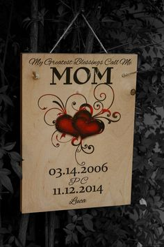 My Greatest Blessings Call Me Mom Custom Name Sign by NicheWood Call My Mom, Call Me, Gifts For Family, Gifts For Mom, Custom Wooden Signs, Family Name Signs, Mother Day Gifts, Blessings, Things To Think About