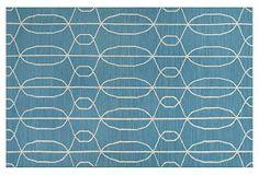 Amelia Flat-Weave Rug, Blue on OneKingsLane.com