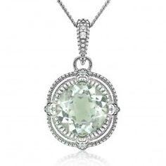 Brilliance green amethyst pendant