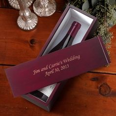 Personalized Wine Gift Set / Unique Wedding Gifts for Couples Wedding Gifts For Parents, Wedding Gift Boxes, Unique Wedding Gifts, Unique Gifts, Wedding Ideas, Trendy Wedding, Wedding Favors, Wedding Night, Wedding Wishes