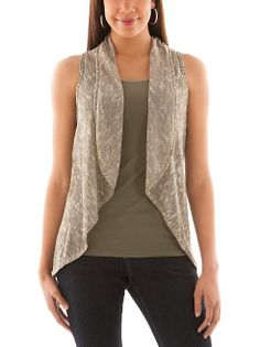 dots: Marled Knit Circle Vest