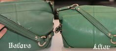 If this works, it's officially magic!  How to fix the rubbery edge coating on a leather purse strap