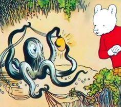 Rupert Bear and the octopus