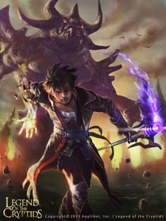Rising Novice Summoner - Legend of the Cryptids summoner conjurer wizard mage magus young mage fantasy fantasy art lotcloc legend of the cryptids card art