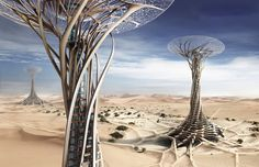 Sand Babel looks like a futuristic building in desert. Its a conceptual and ambitious project constructed of sand which are plentiful material using solar-powered printer. Architecture Magazines, Futuristic Architecture, Amazing Architecture, Architecture Design, Innovative Architecture, Turm Von Babylon, Future Buildings, Tower Of Babel, Futuristic City