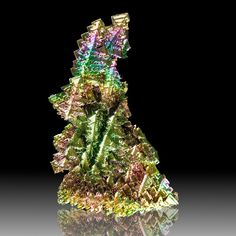 Hoppered BISMUTH Crystals Bright Rainbow Kaleidoscope Colors Germany