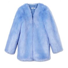 THP The Boxy Coat ($850) ❤ liked on Polyvore featuring outerwear, coats, jackets, blue and blue coat