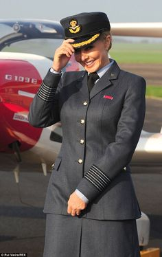 Getting into the role: Carol has long been associated with RAF linked charities including the Royal Air Forces Association