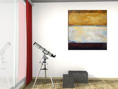Abstract and minimalist painting in mixed media on by VArtGallery, $170.00
