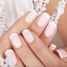 All girls like beautiful nails. The first thing we notice is nails. Therefore, we need to take good care of the reasons for nails. We always remember the person with the incredible nails. Instead, we don't care about the worst nails. Wedding Day Nails, Wedding Manicure, Manicure And Pedicure, Wedding Makeup, Gel Nail Art Designs, French Nail Designs, Nails Design, French Nails, Bridal Nails French