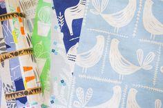 Colourful screenprinted textiles by designer Zeena Shah