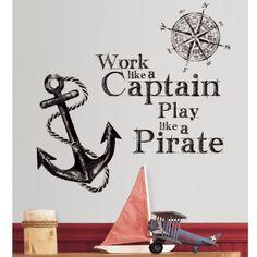 Adesivo removível infantil Capitão Pirata – Roommates - CasaTema