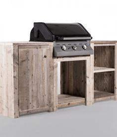 BBQ tafel in steigerhout