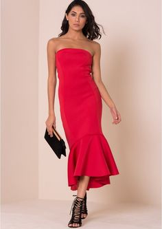 Pin for Later: Party On With These 50 Party Dresses Under £50  Maesha Red Fishtail Peplum Dress (£24)