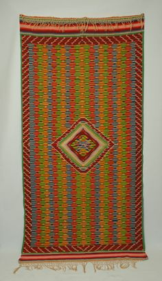 A Superb Antique Mexican Saltillo Serape image 2