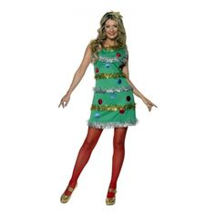 Adult Christmas Tree Costume Sexy Ladies Xmas Fancy Dress Outfit New Christmas Costumes For Adults, Christmas Tree Costume, Holiday Costumes, Christmas Dresses, Christmas Parties, Xmas Party, Holiday Dresses, Christmas Presents, Halloween Costumes