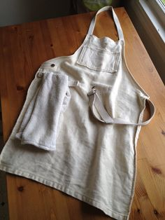 couldn't live without this at our house!  Sustainable Kitchen/Garden/Harvest/Utility Apron (with organic cotton-hemp handtowel). $65.00, via Etsy.