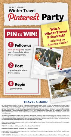 Share your best #winter #travel photos with us for a chance to #win a winter travel prize pack plus Amazon Kindle!