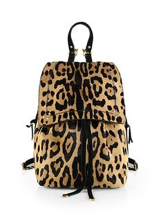 Animal print gives this Jerome Dreyfuss 'Florent Backpack' a girly look that's on trend.