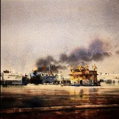 1984 This is a powerful watercolor art piece by the wonderful... #sikhblog #feedly