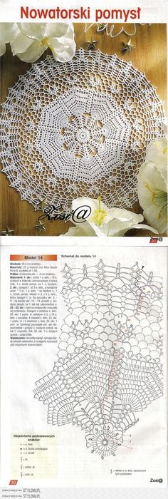Kira scheme crochet: Scheme crochet no. 1057