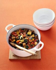 This vegetable stew can be eaten on its own; served with meat, fish, or eggs; or tossed with pasta.