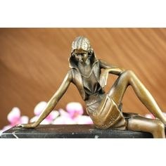 ON SALE !!! Elegant Confident Lady Bronze Marble Statue By Vitaleh...Sitting Provocatively Yet Elegantly, A Confident Young Woman Reveals Her Long Curvy Legs In A Short Tight Mini Skirt To Stir Envy Amongst Other Women And To Provoke Lust Amongst Men Whom Indulge Her Beauty. A Figure Of Feminism, The Woman Holds Tremendous Power To Draw Men To Her Toes By Nothing More Than A Glimpse Of Her Golden Skin, The Handmade Bronze Sculpture Was Cast Using The Archaic Method Of Lost-Wax Casting And…