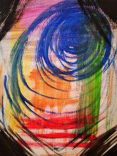 kunst auf einem Ikea Karton nach abstrakter Art. Animation, Instagram, Painting, Abstract Art, Painting Art, Paintings, Painted Canvas, Anime, Animated Cartoons