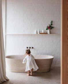 Victorian Home Interior Bathroom renovation inspo - handmade tiles Bad Inspiration, Bathroom Inspiration, Interior Inspiration, Interior Ideas, Laundry In Bathroom, Washroom, Bathroom Bath, Beige Bathroom, Bath Tubs