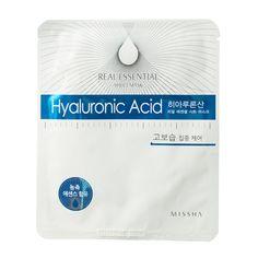 MISSHA máscaras faciais Hyaluronic Acid Real Essential Sheet Mask - 10,50