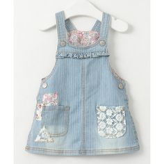 Stylish Lace Patch Spliced Denim Suspender Dress For Girls Baby Girl Party Dresses, Toddler Girl Dresses, Baby Dress, Girls Dresses, Cheap Dresses, Summer Dresses Online, Sexy Summer Dresses, Baby Girl Fashion, Kids Fashion