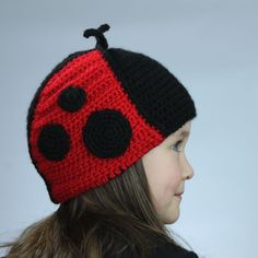Ladybug Hat Crochet Pattern Earflap Style Permission to