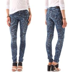 Citizens of Humanity Avedon Paisley Jeans KILLER pair of skinnies from Citizens- snatch these up before I decide to keep them! The perfect piece to add to your spring wardrobe! Sold out everywhere and retail for $218 Citizens of Humanity Jeans Skinny